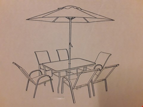 Lot 7319 BOXED TABLE FROM PROVINCE 8PC DINING SET (BOX 2OF3 ONLY)