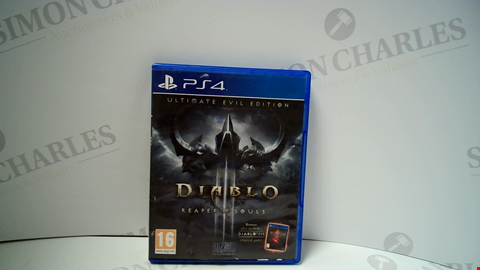 Lot 18005 DIABLO REAPER OF SOULS PLAYSTATION 4 GAME