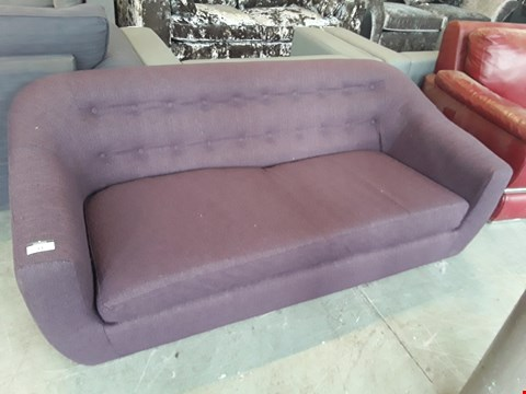 Lot 44 DESIGNER PURPLE FABRIC BUTTON BACK RETRO STYLE TUB SOFA