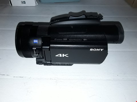 Lot 12154 SONY FDR-AX700 4K HDR CAMCORDER