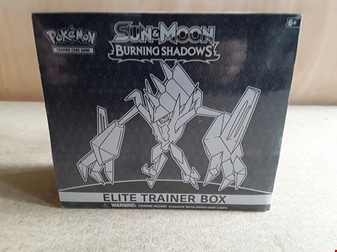 Lot 5 BRAND NEW BOXED POKEMON SUN & MOON BURNING SHADOWS ELITE TRAINER BOX