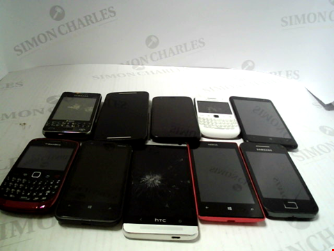 Lot 6105 LOT OF 10 ASSORTED MOBILE PHONES AND SMARTPHONES ETC
