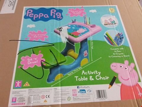 Lot 2101 PEPPA PIG ACTIVITY TABLE AND CHAIR RRP £50