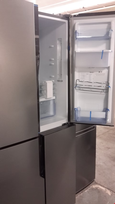 Lot 71 HISENSE STAINLESS STEEL FRENCH STYLE FRIDGE FREEZER - 79.4 CM - 431 LITRE RQ560N4WC1 RRP £679