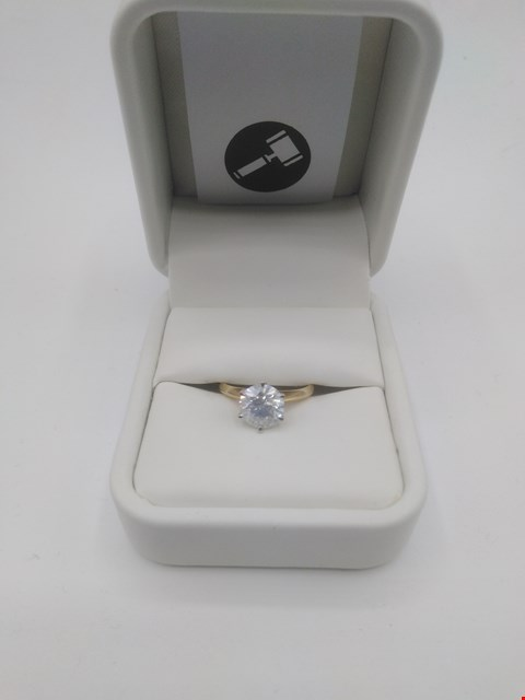 Lot 3 18CT GOLD SOLITAIRE RING SET WITH A DIAMOND WEIGHING +1.56CT RRP £6750.00