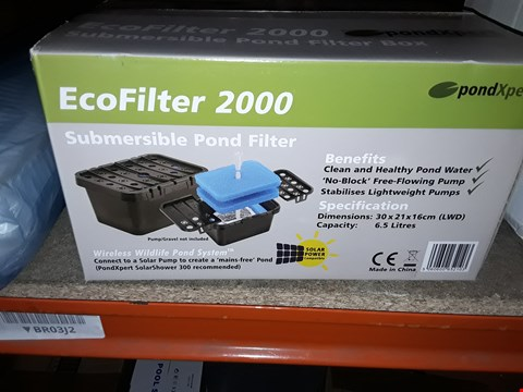 Lot 13983 ECOFILTER 2000 SUBMERSIBLE POND FILTER