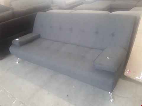 Lot 47 DESIGNER VENICE GREY FABRIC SOFA BED ON CHROME FEET RRP £179.99