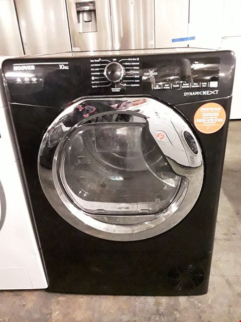 Lot 54 HOOVER DYNAMIC NEXT DX C10TCEB-80 FRONT-LOADING ELECTRIC DRYER - 10 KG - BLACK RRP £379