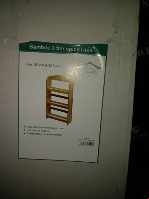 Lot 7012 BAMBOO 3 TIER SPICE RACK
