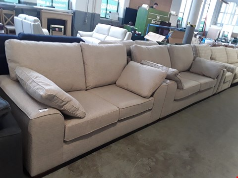 Lot 14 QUALITY BRITISH DESIGNER NATURAL WEAVE NANTUCKET 2 AND 3 SEATER SOFAS