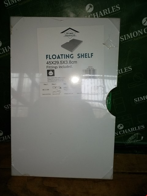 Lot 7064 OPTIMAL PRODUCTS WHITE GLOSS FLOATING SHELF