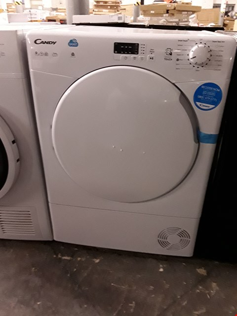 Lot 29 CANDY WHITE SENSOR CONDENSER TUMBLE DRYER RRP £219.99