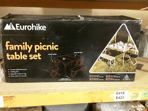 Lot 8127 BOXED EURO HIKE FAMILY PICNIC TABLE SET