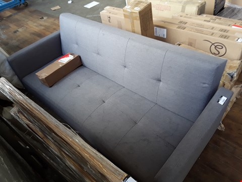 Lot 2164 LIGHT GREY FABRIC 3 SEATER SOFA BED