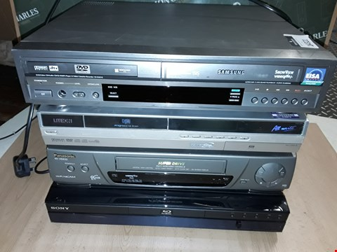 Lot 14321 LOT OF 4 ASSORTED MEDIA PLAYERS TO INCLUDE SONY BLUE-RAY PLAYER, PANASONICNV-HD630 AND SAMSUNG SV-DVDIE