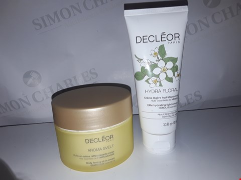 Lot 877 ×3 DECLEOR PARIS AROMA SVELTE BODY FIRMING OIL IN CREAM GRAPEFRUIT ESSENTIAL OIL 200ML/ HYDRA FLORAL 24HR HYDRATING LIGHT CREAM NEROLI ESSENTIAL OIL 100ML