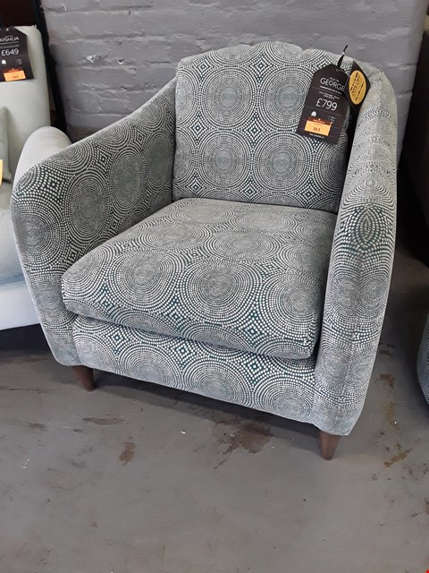 Lot 363 QUALITY BRITISH DESIGNER GEORGE RASY CHAIR UPHOLSTERED IN SCION KATERI PEACOCK FABRIC RRP £799