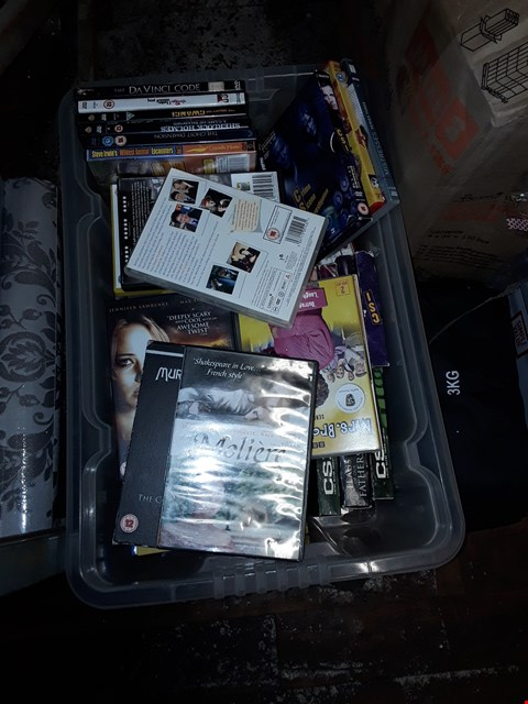 Lot 1868 BOX OF ASSORTED DVDS
