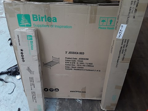 Lot 2183 BOXED JESSICA 3' BED FRAME - CREAM (3 BOXES)