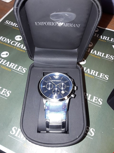 Lot 2 BOXED EMPORIO ARMANI STAINLESS STEEL STRAP WATCH
