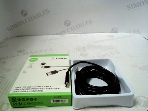 Lot 5539 BELKIN 2.0 USB-A to USB-C Charge Cable 3m Black RRP £26.00
