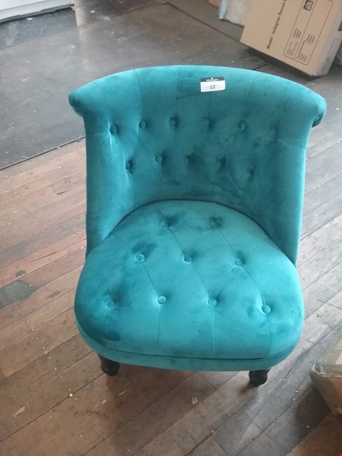 Lot 53 DESIGNER BLOOMSBURY FABRIC DRAWING ROOM CHAIR RRP £158