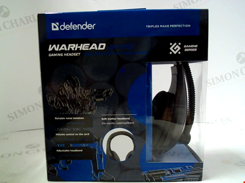 Lot 399 BRAND NEW DEFENDER WARHEAD G-170 GAMING HEADSET