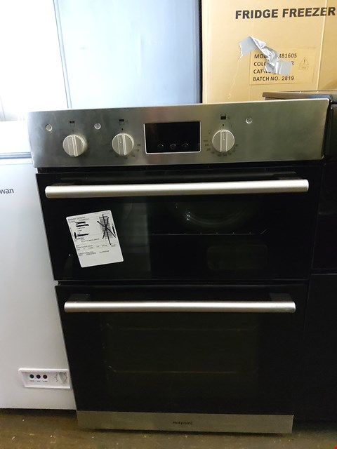 Lot 7031 HOTPOINT BUILT IN DOUBLE STAINLESS STEEL ELECTRIC OVEN RRP £319.00
