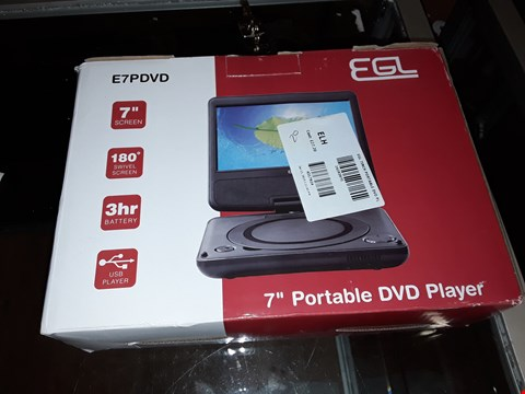 "Lot 1001 EGL 7"" PORTABLE DVD PLAYER"