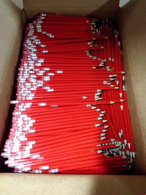 Lot 591 BOX OF APPROXIMATELY 1000 PENCILS WITH RUBBER END RRP £499.00