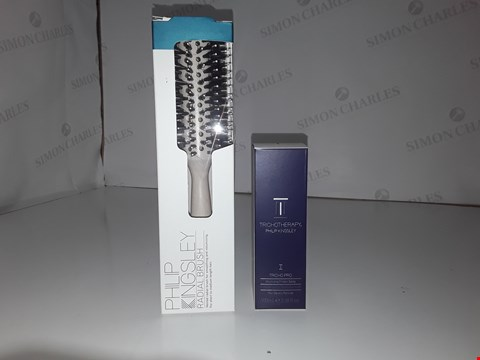 Lot 671 PHILP KINGSLEY RADIAL BRUSH/TRICHOTHERAPY VOLUMISING PROTEIN SPRAY 100ML FOR FINE OR THINNING HAIR