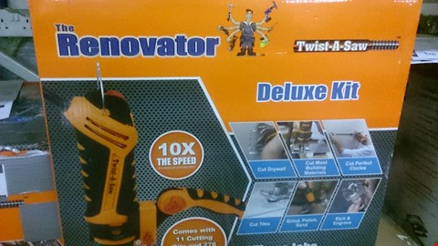 Lot 1064 BOXED RENOVATOR TWIST-A-SAW DELUXE KIT RRP £99.99