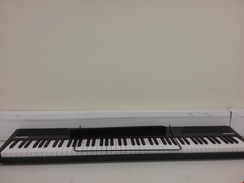 Lot 3222 ALESIS RECITAL – 88 KEY DIGITAL ELECTRIC PIANO / KEYBOARD WITH SEMI WEIGHTED KEYS, POWER SUPPLY, BUILT-IN SPEAKERS AND 5 PREMIUM VOICES