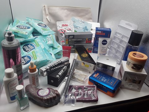 Lot 16 TRAY OF APPROXIMATLY 47 ITEMS OF ASSORTED COSMETIC ITEMS
