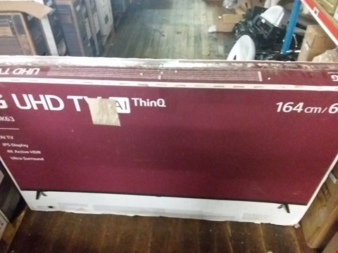 "Lot 3686 LG 65"" UHD THINQ TV"