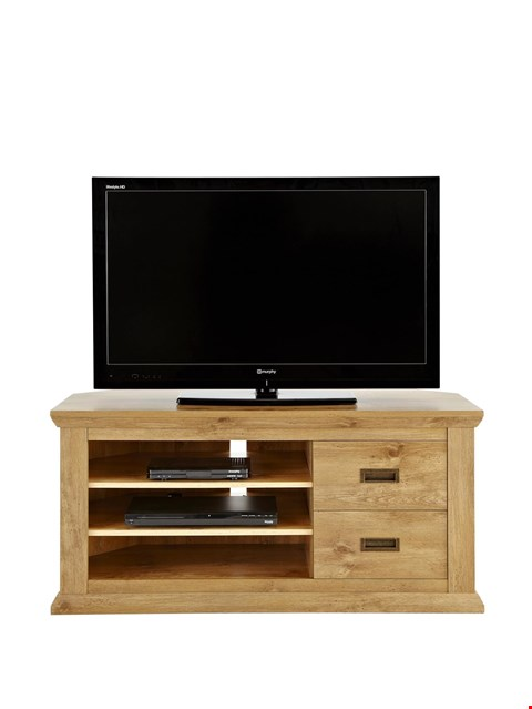 Lot 2020 BOXED GRADE 1 CLIFTON OAK-EFFECT CORNER TV UNIT (1 BOX) RRP £159.99