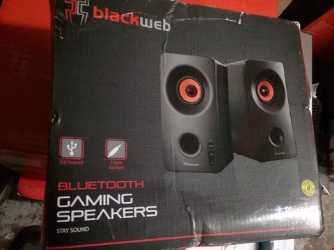 Lot 1290 BOXED BLACKWEB BLUETOOTH GAMING SPEAKERS