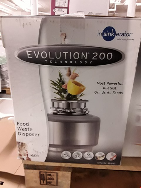 Lot 2 INSINKERATOR EVOLUTION 200 FOOD WASTE DISPOSER RRP £342