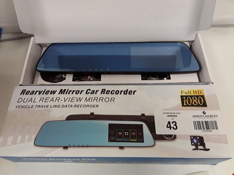Lot 43 BOXED REARVIEW MIRROR CAR RECORDER FULL HD