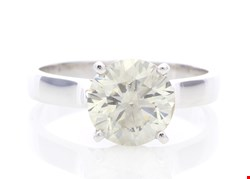 Lot 7 18ct WHITE GOLD SINGLE STONE CLAW SET DIAMOND RING 2.51ct RRP £80000