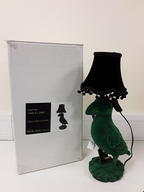 Lot 6013 BOXED PUFFIN TABLE LAMP