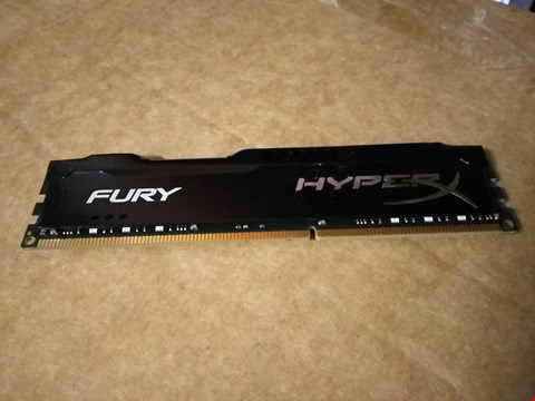 Lot 18763 HYPERX HX318C10FB/8 FURY BLACK, 8 GB, 1866 MHZ DDR3 CL10 DIMM