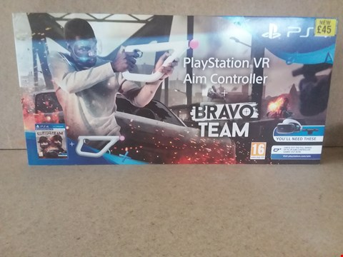 Lot 12 BRAND NEW BOXED PLAYSTATION VR AIM CONTROLLER + BRAVO TEAM FOR PS4