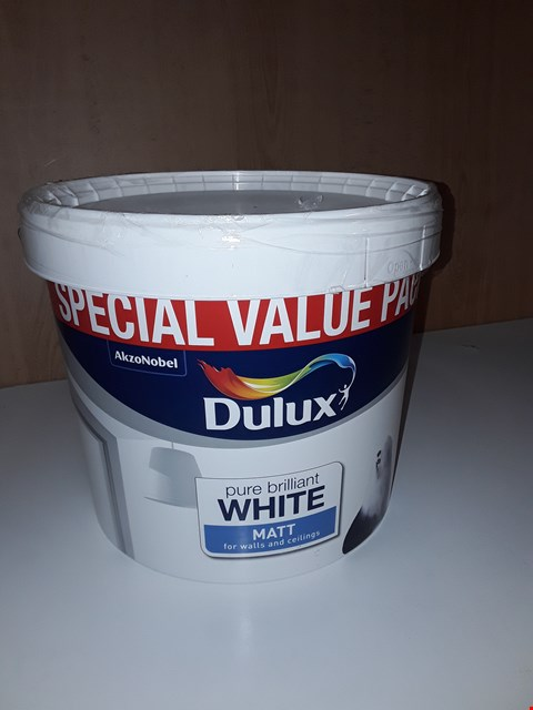Lot 200 7 LITRE DULUX PURE BRILLIANT WHITE MATT
