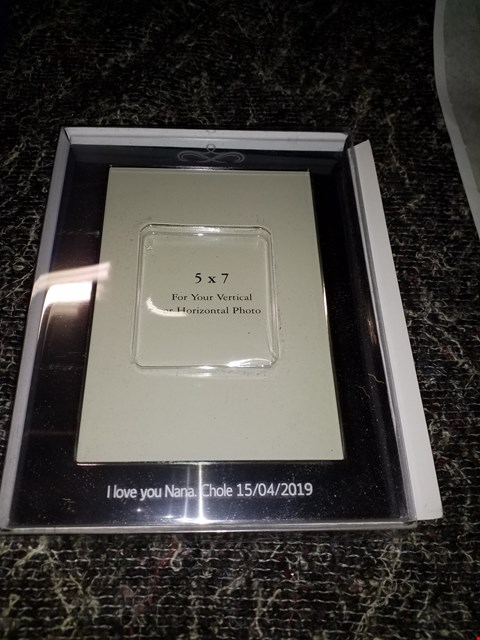 Lot 87 PERSONALISED SILVER PHOTO FRAME  RRP £20.00