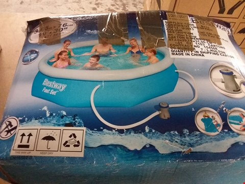 Lot 7048 BESTWAY 10FT POOL FAST SET BLUE RRP £169.00