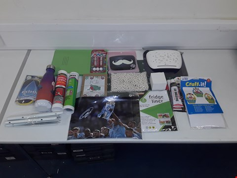 Lot 8068 LOT OF ASSORTED HOUSEHOLD ITEMS TO INCLUDE FACE MASK, INTERNET ROUTER, MAN CITY SIGNED PHOTO
