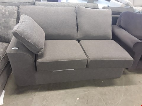 Lot 20 QUALITY BRITISH DESIGNER GREY FABRIC SOFA SECTION