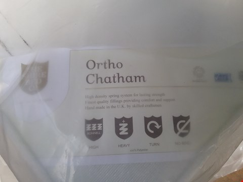 Lot 16 QUALITY BAGGED ORTHO CHATHAM HIGH DENSITY SPRING MATTRESS APPROXIMATELY 90X190CM