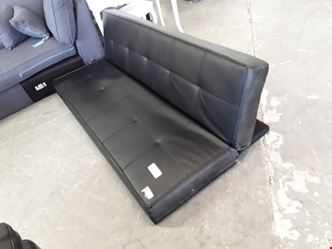 Lot 126  JETT BLACK FAUX LEATHER SOFABED